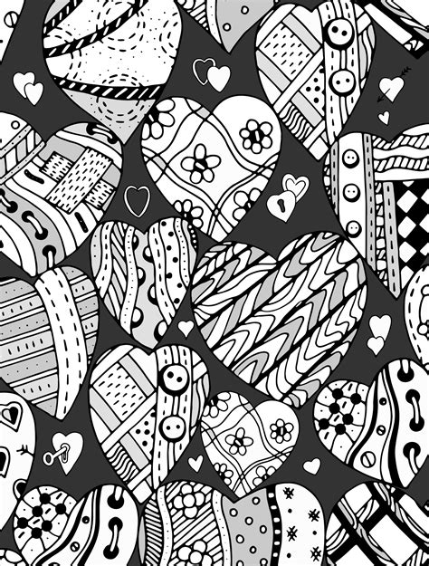 coloring pages for adults valentines 20 free printable valentines adult coloring pages nerdy