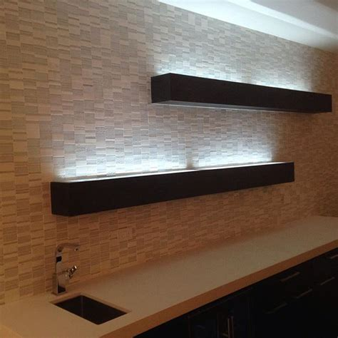 Floating Shelf Lighting by Best 25 Led Wall Lights Ideas On