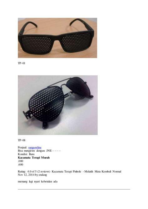 Kacamata Terapi Tp 05 Sporty apa itu kacamata terapi pinhole