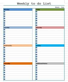 Weekly To Do Calendar Template by Weekly To Do List Template Free Layout Format