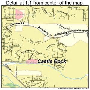castle rock colorado map 0812415