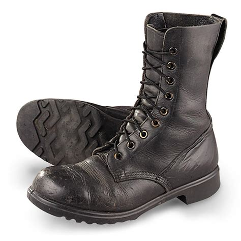 used speed lace combat boots black 60755 at