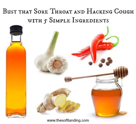 coughing and hacking bust that sore throat and hacking cough with 5 simple ingredients from your kitchen