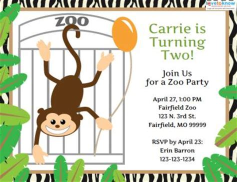 Design An Innovative Invitation Card For Opening Zoo | zoo birthday invitation templates