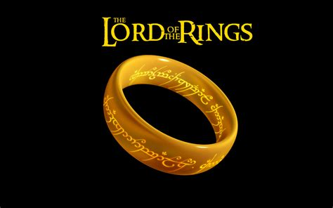 wallpaper the lord of the rings logo ring inscription
