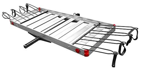 Cargo Carrier With Bike Rack by Tow Tuff Ttf 2762acbr Aluminum Cargo Carrier With Bike