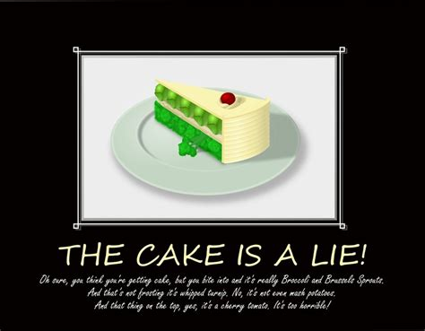 Cake Is A Lie Meme - the cake is a lie by earlyblake on deviantart