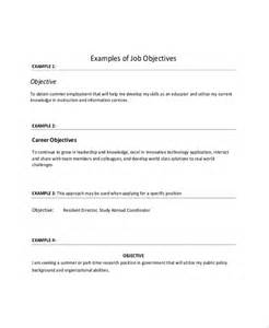 Sample Resume Objectives Pdf by Sample Objective On Resume 8 Examples In Word Pdf