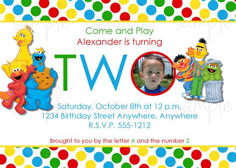 sesame invitation template sesame birthday invitation