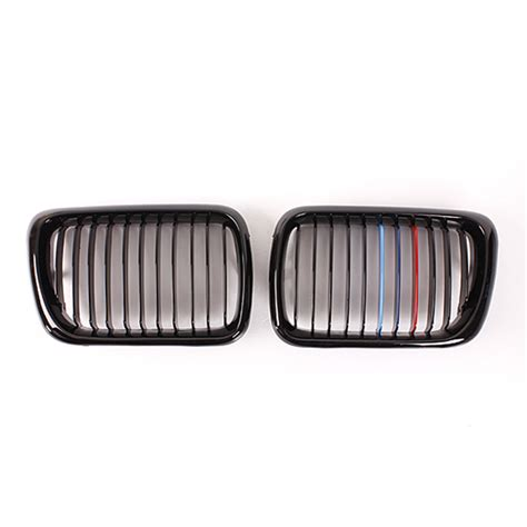 bmw grill front gloss black m style kidney grille grill for bmw e36
