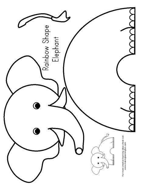 free printable elephant art e is for elephant preschool elephants pinterest