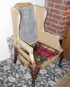 How To Upholster A Wingback Chair by How To Reupholster A Wingback Chair On