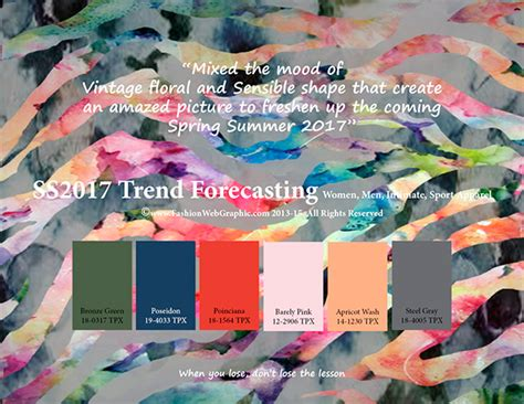summer 2017 pantone colors ss2017 trend forecasting on pantone canvas gallery