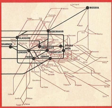air canada route maps air canada 1971 timetable europe route map airline route