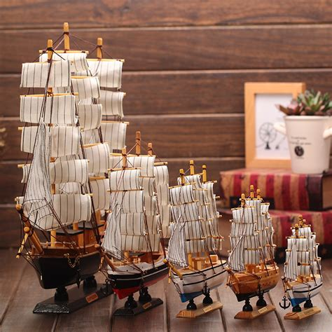 marine decorations for home wooden ship model nautical decor home crafts miniatur