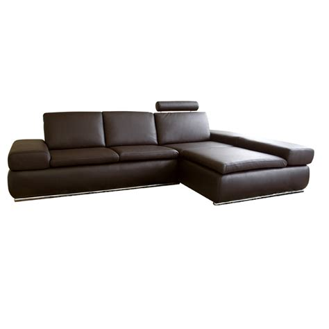 Leather Sofa With Chaise Lounge Wholesale Interiors Leather Sofa Sectional With Chaise Brown Chagne 2seat