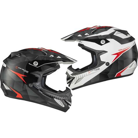 white motocross helmets shox mx 1 shadow black white red motocross helmet quad mx