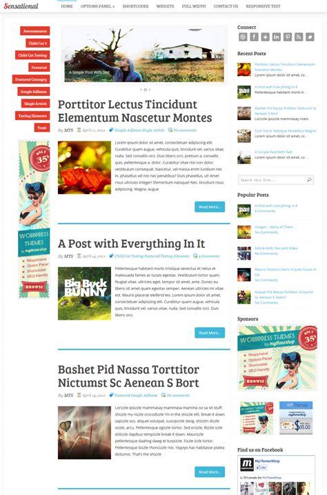 sensational theme sensational a premium blog magazine wordpress theme