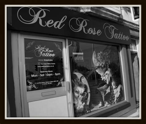 red rose tattoo weston super mare studio