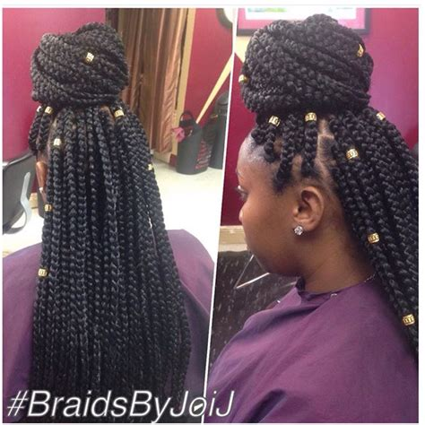 gold hair for braids medium box braids w hair jewelry box braids