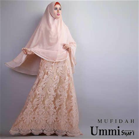 Gamis Syari Brokat jual model gaun baju gamis brokat mufidah syari by ummi