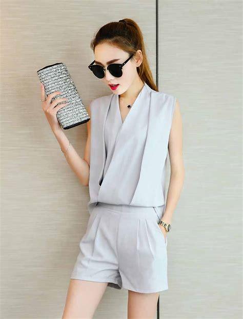 Setelan Dress Wanita Stw 162 baju setelan celana gray lengan buntung myrosefashion
