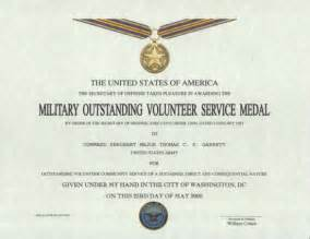 Movsm Template by Outstanding Volunteer Service Medal Certificate
