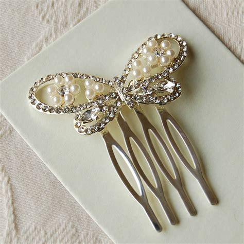 Pinset Set set of two butterfly hair combs by highland