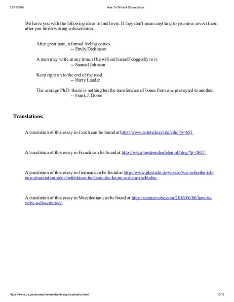 dissertation draft how to write a dissertation