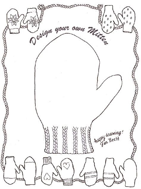 design your own template design your own mitten