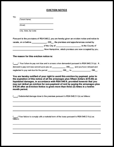 Blank Free Eviction Notice Template Pdf Word Eviction Notice Template Word