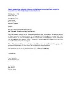 Sle Letter For Loan Closure Bank Account Closure Letter