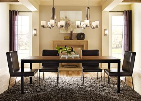 lighting ideas for dining room wooden floor accent table