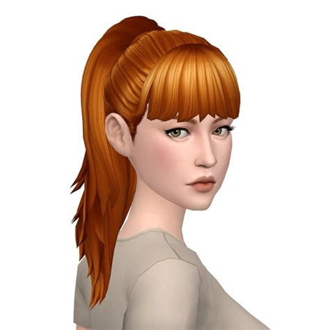 sims 4 long wavy hair without bangs sims 4 hairs deelitefulsimmer simple ponytail with and