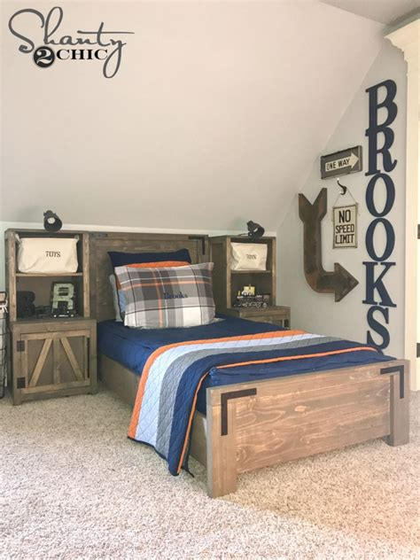 diy modern farmhouse platform bed shanty  chic
