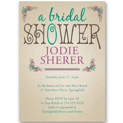 Bridal Shower Invitation by Bridal Shower Invitations At Wedding Invites