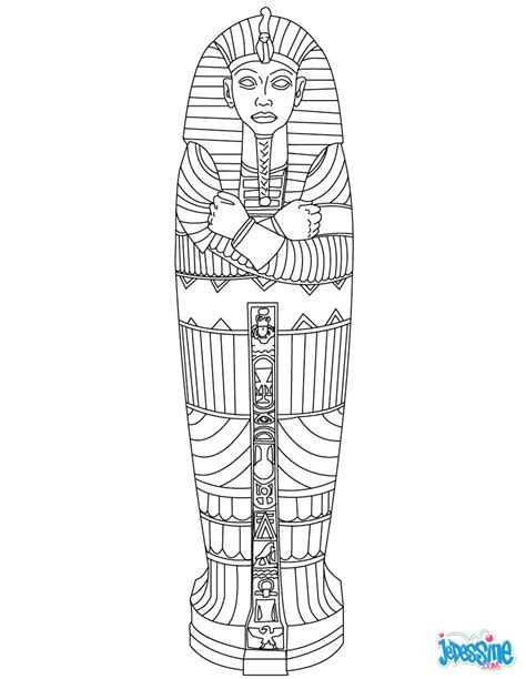 coloring pages egyptian mummies coloriages sarcophage 201 gyptien fr hellokids com