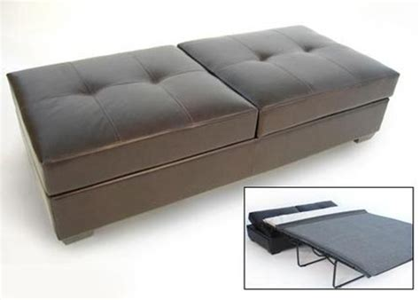 convertible sleeper ottoman ottoman sleeper apartment therapy