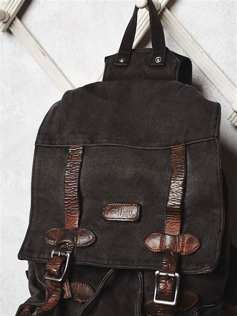 bed stu backpack free people bed stu x womens columbus backpack in black lyst