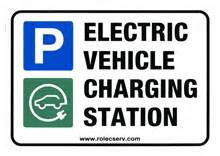 Electric Vehicle Charging Station Signs Uk Rolec Ev Charging Points Wind Sun