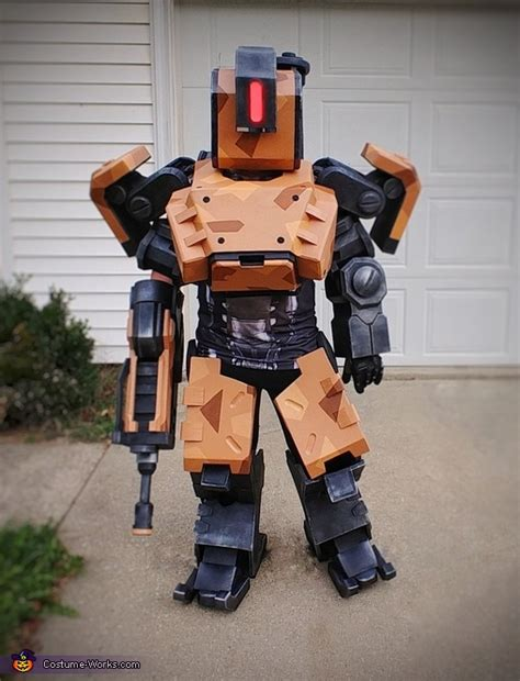 overwatch game character bastion costume