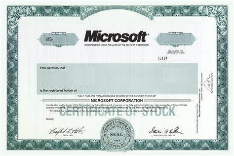 corporate stock certificate template stock certificates and