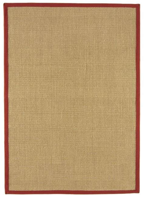 rugs with borders sisal with cotton border rug