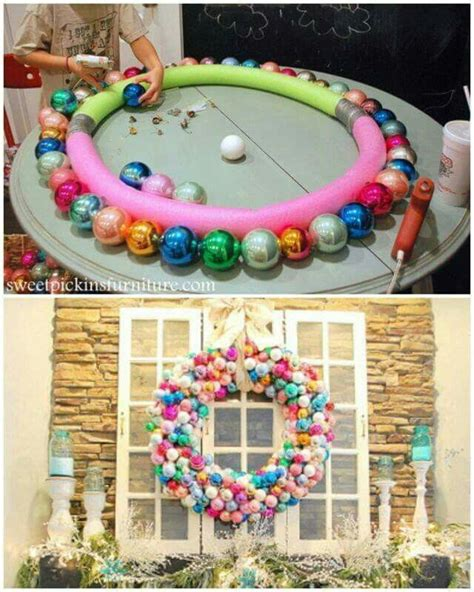 pinterest christmas made out of tulldecorating ideas wreath made out of pool noodles and glue handmade crafts and pools