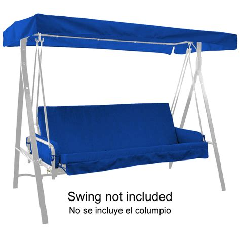 lowes canopy swing shop pacific blue swing cushion with armrests and canopy