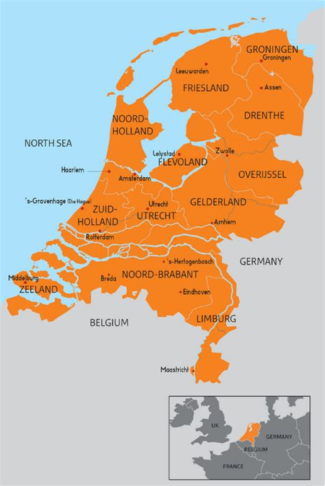 netherlands map facts information trade and invest