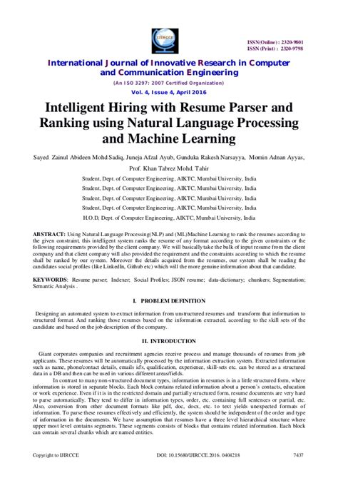 Machine Learning Resume by Machine Learning Resume Resume Ideas