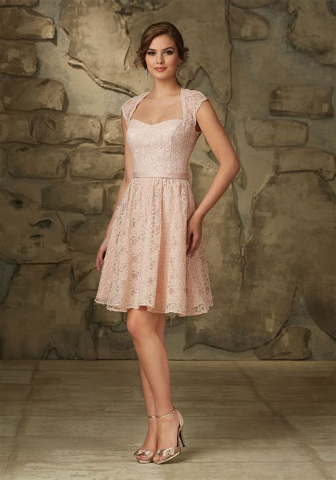 Lace Bridesmaid Dress lace bridesmaid dress with cap sleeves and