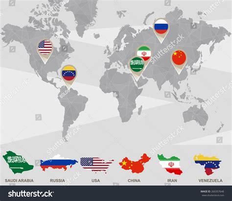 usa china map world map saudi arabia russia usa stock vector 260357648