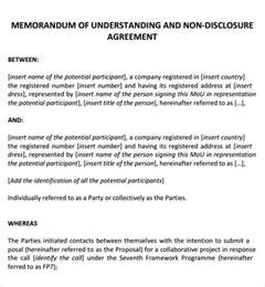 Mou Contract Template by Memorandum Of Agreement 9 Free Pdf Doc